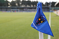 AFC Wimbledon corner flag and pitch during the EFL Sky Bet League 1 match between AFC Wimbledon and Wigan Athletic at the Cherry Red Records Stadium, Kingston, England on 16 December 2017. Photo by Matthew Redman.