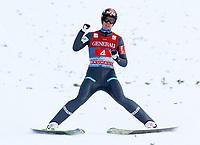 Hopp<br /> FIS World Cup<br /> Garmisch Partenkirchen Tyskland<br /> 01.01.2013<br /> Foto: Gepa/Digitalsport<br /> NORWAY ONLY<br /> <br /> FIS Weltcup der Herren, Vierschanzen-Tournee. Bild zeigt den Jubel von Anders Bardal (NOR).