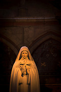 Statue of Saint Therese in Cathedral of Notre-Dame in Reims, France
