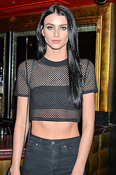 LUCY GASCOYNE at a party to celebrate the UK launch of French fashion label ba&sh at The Arts Club, Dover Street, London on 15th March 2016.