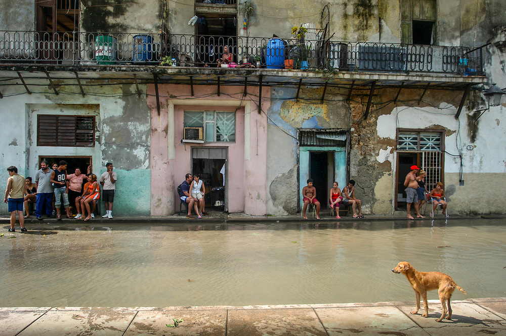 A flooded street in Havana. Increased extreme weather events in Cuba and the Caribbean region are resulting from climate change.