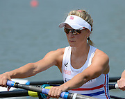 Chungju, South Korea.  GBR W8+. Katie GREVES,at the start on the second day of the 2013 FISA World Rowing Championships, Tangeum Lake International Regatta Course. 03:38:05  Monday  26/08/2013 [Mandatory Credit. Peter Spurrier/Intersport Images]