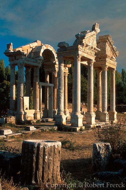 TURKEY, GREEK AND ROMAN Aphrodisias; columns of the Tetrapylon