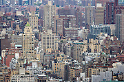 Dense urban landscape of the Upper East Side in Manhattan, New York.
