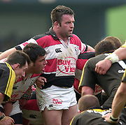 Wycombe. GREAT BRITAIN, 13th April 2003 Rugby Parker Pen European  Cup,  Causeway Stadium/ Adams Park, ENGLAND. Photo, Peter Spurrier/Intersport-images]<br /> <br /> 2003 -Rugby Parker Pen European  Cup <br /> London Wasps v Pontypridd<br /> Mefin Davies