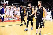 Infante Luca Owens Josh Fontecchio Simone Dyson Jerome Cusenza Kevin Pini Giovanni<br /> Grissin Bon Reggio Emilia - Virtus Roma<br /> Lega Basket Serie A 2019/2020<br /> Reggio Emilia, 29/12/2019<br /> Foto A.Giberti / Ciamillo - Castoria