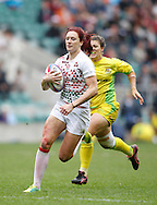 Picture by Andrew Tobin/Tobinators Ltd +44 7710 761829.12/05/2013.Joanne Whatmore in action as England beat Australia 36-7 in the womens final during the Emirates London 7s at Twickenham Stadium, Twickenham.