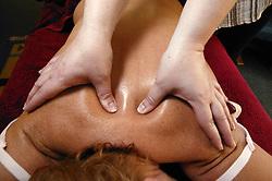 Patient having a back massage,