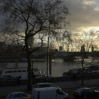 River Thames view at dusk, London