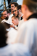 The Kantorei of Concordia Theological Seminary, Fort Wayne, Ind., performs during chapel at the Making Disciples for Life Initial Gathering on Friday, Jan. 10, 2020, at the International Center of The Lutheran Church–Missouri Synod in St. Louis. LCMS Communications/Erik M. Lunsford