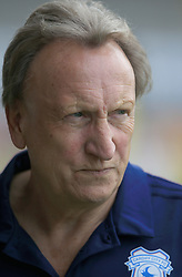 """Cardiff City's manager Neil Warnock during the pre-season friendly match at the Pirelli Stadium, Burton. PRESS ASSOCIATION Photo. Picture date: Saturday July 28, 2018. See PA story SOCCER Burton. Photo credit should read: Clint Hughes/PA Wire. RESTRICTIONS: EDITORIAL USE ONLY No use with unauthorised audio, video, data, fixture lists, club/league logos or """"live"""" services. Online in-match use limited to 75 images, no video emulation. No use in betting, games or single club/league/player publications."""