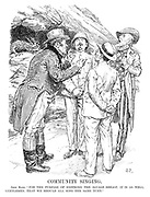 """Community Singing. John Bull. """"For the purpose of soothing the savage breast, it is as well, gentlemen, that we should all sing the same tune."""""""