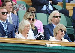 July 11, 2018 - Angleterre - Wimbledon - Madame La Duchesse de Cornouailles Angleterre - Richard Branson dans la loge royale (Credit Image: © Panoramic via ZUMA Press)