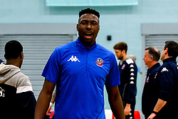 Daniel Edozie of Bristol Flyers - Photo mandatory by-line: Robbie Stephenson/JMP - 10/04/2019 - BASKETBALL - UEL Sports Dock - London, England - London Lions v Bristol Flyers - British Basketball League Championship