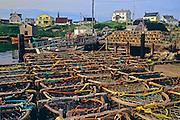 lobster traps<br /> Peggy's Cove<br /> Nova Scotia<br /> Canada