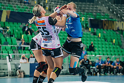 Harma van Kreij of Slovenia  seen during handball match between RK Krim Mercator (SLO) and Vipers Kristiansand (NOR), on September 12, 2020 in Arena Stožice, Ljubljana, Slovenia. Photo by Sinisa Kanizaj / Sportida