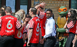 Editors note alternate crop Jermain Defoe (centre) during the funeral of Bradley Lowery, the six-year-old football mascot whose cancer battle captured hearts around the world, at St Joseph's Church in Blackhall, County Durham.
