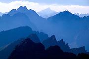 Slovakia, 2006 - The High Tatra mountains fade into the blue high altitude haze.