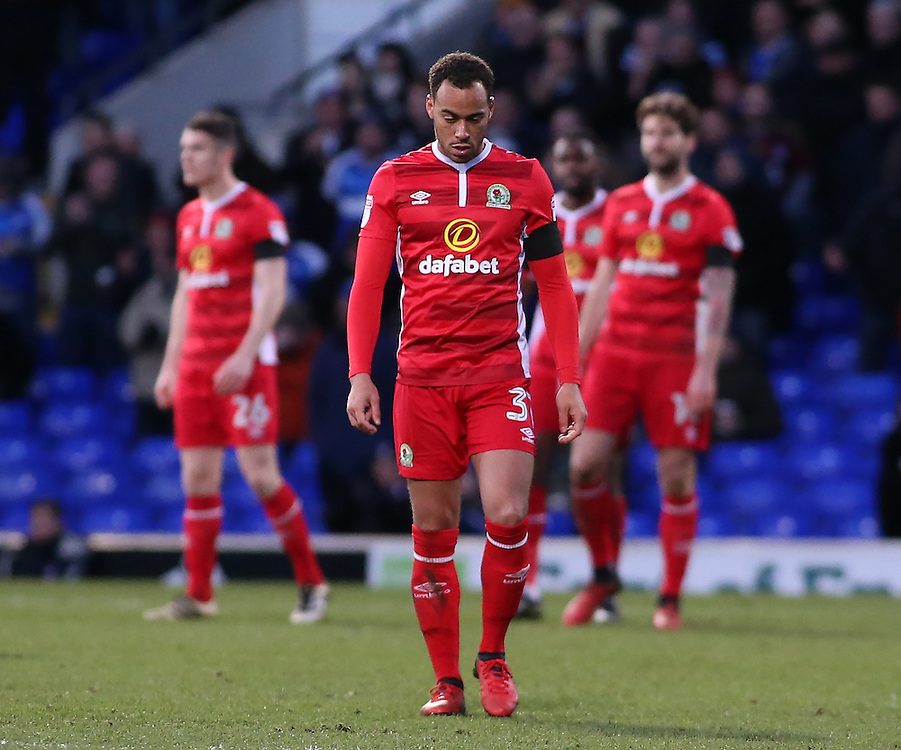 The Blackburn Rovers show their dejection after going 2-1 behind<br /> <br /> Photographer David Shipman/CameraSport<br /> <br /> The EFL Sky Bet Championship - Ipswich Town v Blackburn Rovers - Saturday 14th January 2017 - Portman Road - Ipswich<br /> <br /> World Copyright © 2017 CameraSport. All rights reserved. 43 Linden Ave. Countesthorpe. Leicester. England. LE8 5PG - Tel: +44 (0) 116 277 4147 - admin@camerasport.com - www.camerasport.com