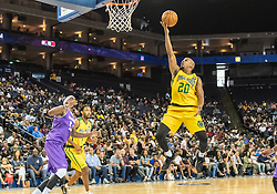 July 6, 2018 - Oakland, CA, U.S. - OAKLAND, CA - JULY 06: Andre Owens (20) of the Ball Hogs goes for a lay up during game 2 in week three of the BIG3 3-on-3 basketball league on Friday, July 6, 2018 at the Oracle Arena in Oakland, CA  (Photo by Douglas Stringer/Icon Sportswire) (Credit Image: © Douglas Stringer/Icon SMI via ZUMA Press)