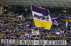 Viole, fans of Maribor during football match between NK Maribor and Panathinaikos Athens F.C. (GRE) in 1st Round of Group Stage of UEFA Europa league 2013, on September 20, 2012 in Stadium Ljudski vrt, Maribor, Slovenia. Maribor defeated Panathinaikos 3-0. (Photo By Vid Ponikvar / Sportida)