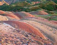Georgia, David Gareji Nature Reserve, Georgia, colorful rolling hills along the border region to Azerbaidjan.