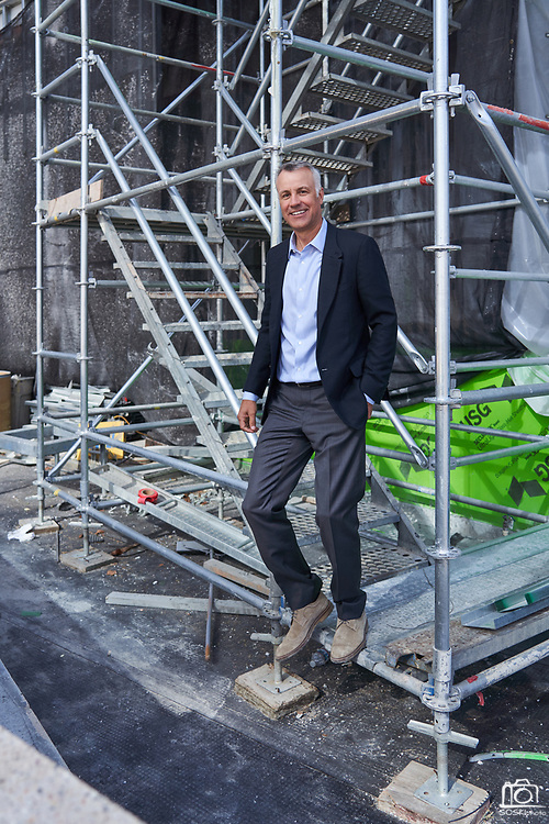 Case Swenson poses for a portrait at The Graduate student housing project in downtown San Jose, California, on February 14, 2020. (Stan Olszewski/SOSKIphoto)