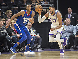 November 25, 2017 - Sacramento, CA, USA - The Sacramento Kings' Garrett Temple (17) steals the ball in the first half against the Los Angeles Clippers on Saturday, Nov. 25, 2017, at Golden 1 Center in Sacramento, Calif. (Credit Image: © Hector Amezcua/TNS via ZUMA Wire)