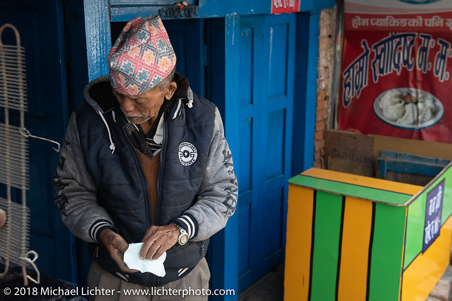 Himalayan Heroes adventure - back in Kathmandu after the ride, Nepal. Friday, November 16, 2018. Photography ©2018 Michael Lichter.