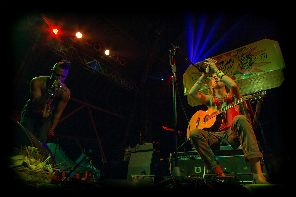 Trevor Hall Performing at the Soulshine Festival in Bali, Indonesia.