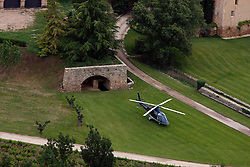 File picture taken on May 2008 of Brad Pitt and Angelina Jolie's Chateau Miraval near Torrens, South of France.The chateau and vineyard, surrounded by forests, olive groves and a lake, was first leased by the A-listers in 2008 and they purchased the estate for an estimated $60 million in 2012. They married there in 2014. According to UsWeekly.com Brad Pitt and Angelina Jolie have agreed to part with their country estate and vineyard as they pursue a divorce. Photo by ABACAPRESS.COM