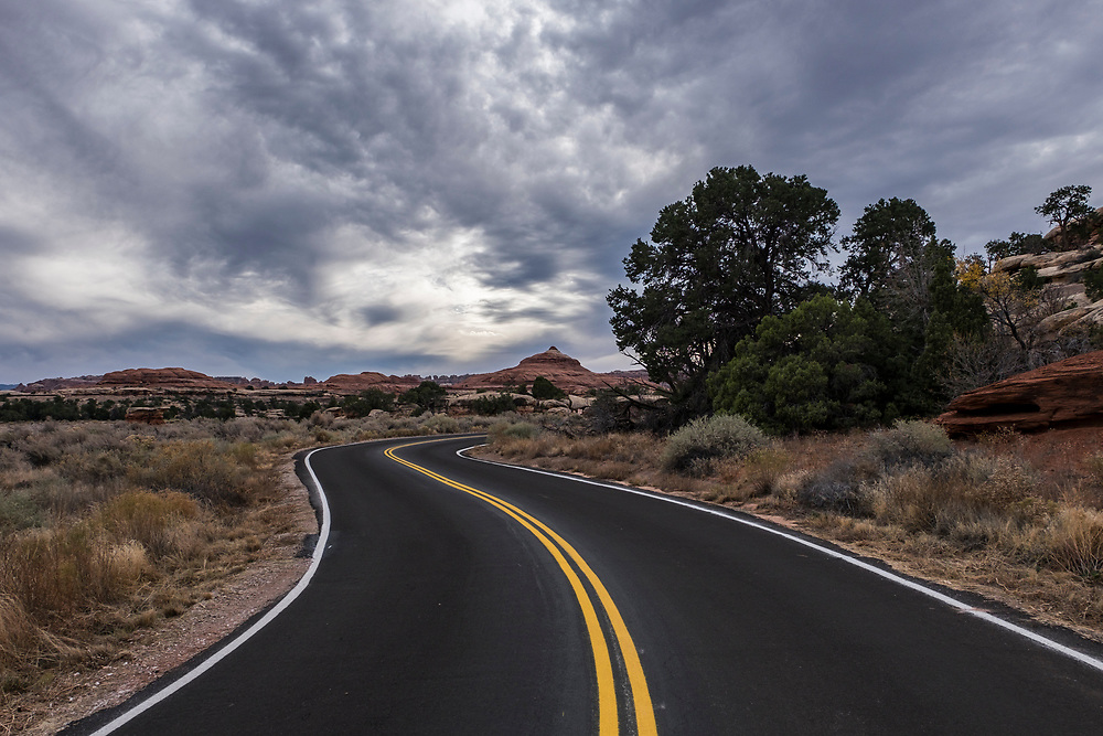 Back on the road in the Needles District.
