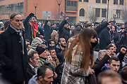 Jan. 27, 2015 - Prishtina, Kosovo - Police clashed with a crowd of some 2,000 people who rallied in Kosovo's capital, Pristina, to call for the dismissal of a Serb minister they accuse of insulting Albanian war victims. Tear gas was deployed to disperse the rally. The riots are on going. Police used violence also against the press. (Credit Image: © Vedat Xhymshiti/ZUMA Wire)