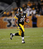 Mewelde Moore of the PIttsburgh Steelers during a 24-20 loss to Indianapolis on Sunday, Nov. 9, 2008 in Pittsburgh.