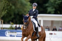 Verreet Katrien, BEL, Oblix van de Kempenhoeve<br /> World Championship Young Horses Verden 2021<br /> © Hippo Foto - Dirk Caremans<br /> 27/08/2021