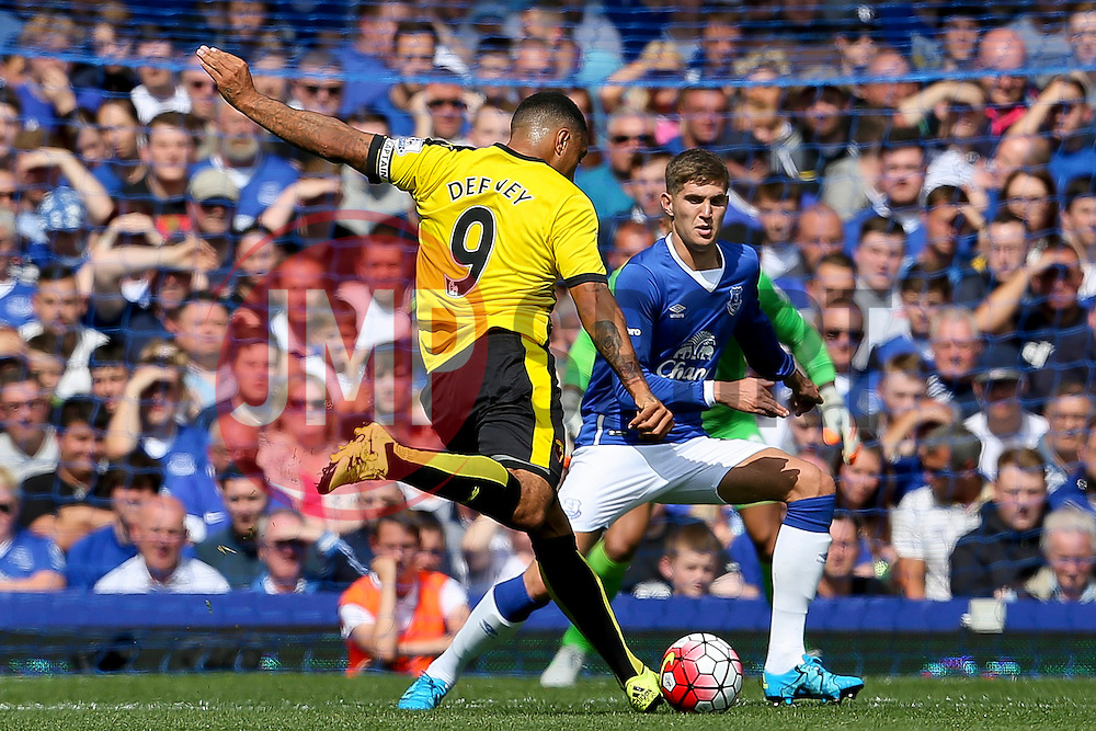 Watford's Troy Deeney fires a shot at goal  - Mandatory byline: Matt McNulty/JMP - 07966386802 - 08/08/2015 - FOOTBALL - Goodison Park -Liverpool,England - Everton v Watford - Barclays Premier League
