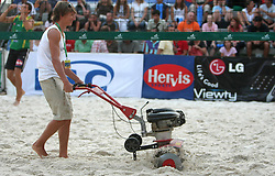 Sand machine at 14th National Championship of Slovenia in Beach Volleyball and also 4th tournament of series TUSMOBIL LG presented by Nestea, on July 25, 2008, in Kranj, Slovenija. (Photo by Vid Ponikvar / Sportal Images)/ Sportida)