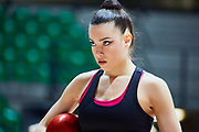 Alessia Maurelli captain of the Italian Rhythmic Gymnastics Team during training in Desio, 08 February 2020.