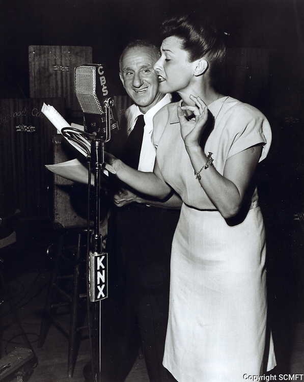 1944 Cass Daly and Jimmy Durante broadcast a radio show from the Hollywood Canteen