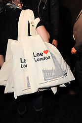 Lee goody bags at the Lee store re-launch party held at 13-14 Carnaby Street, London on 31st March 2010.
