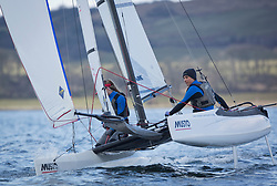 The annual RYA Youth National Championships is the UK's premier youth racing event. This year's regatta is taking place in Largs, Scotland, and will feature around 200 young sailors aged between 14 and 21. <br /> <br /> <br /> 004, Theo Williams & Jasmine Williams from Restronguet Sailing Club sailing in the Nacra 15 Open Class<br /> <br /> <br /> <br /> Images: Marc Turner / RYA<br /> <br /> For further information contact:<br /> <br /> Richard Aspland, <br /> RYA Racing Communications Officer (on site)<br /> E: richard.aspland@rya.org.uk<br /> m: 07469 854599