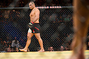 LAS VEGAS, NV - JULY 9:  Cain Velasquez prepares to fight Travis Browne during UFC 200 at T-Mobile Arena on July 9, 2016 in Las Vegas, Nevada. (Photo by Cooper Neill/Zuffa LLC/Zuffa LLC via Getty Images) *** Local Caption *** Cain Velasquez