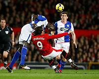 Photo: Steve Bond/Richard Lane Photography. Manchester United v Blackburn Rovers. Barclays Premiership 2009/10. 31/10/2009. Dimitar Berbatov goes down under the challange of Christopher Samba