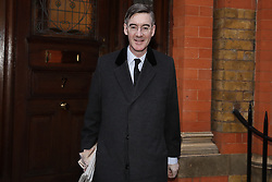 © Licensed to London News Pictures. 04/02/2019. London, UK. Conservative MP Jacob Rees-Mogg leaves his home near Parliament. Later Conservative MPs are to meet in Downing Street with Brexit Secretary  Steven Barclay in a new taskforce to develop backstop alternatives. Photo credit: Peter Macdiarmid/LNP