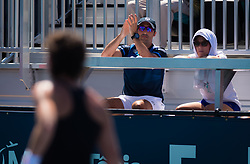 March 22, 2019 - Miami, FLORIDA, USA - Team Carla in action during the second-round at the 2019 Miami Open WTA Premier Mandatory tennis tournament (Credit Image: © AFP7 via ZUMA Wire)