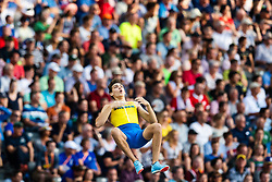 August 12, 2018 - Berlin, GERMANY - 180812 Armand Duplantis of Sweden competes in the men´s pole vault final during the European Athletics Championships on August 12, 2018 in Berlin..Photo: Vegard Wivestad Grøtt / BILDBYRÃ…N / kod VG / 170206 (Credit Image: © Vegard Wivestad GrØTt/Bildbyran via ZUMA Press)