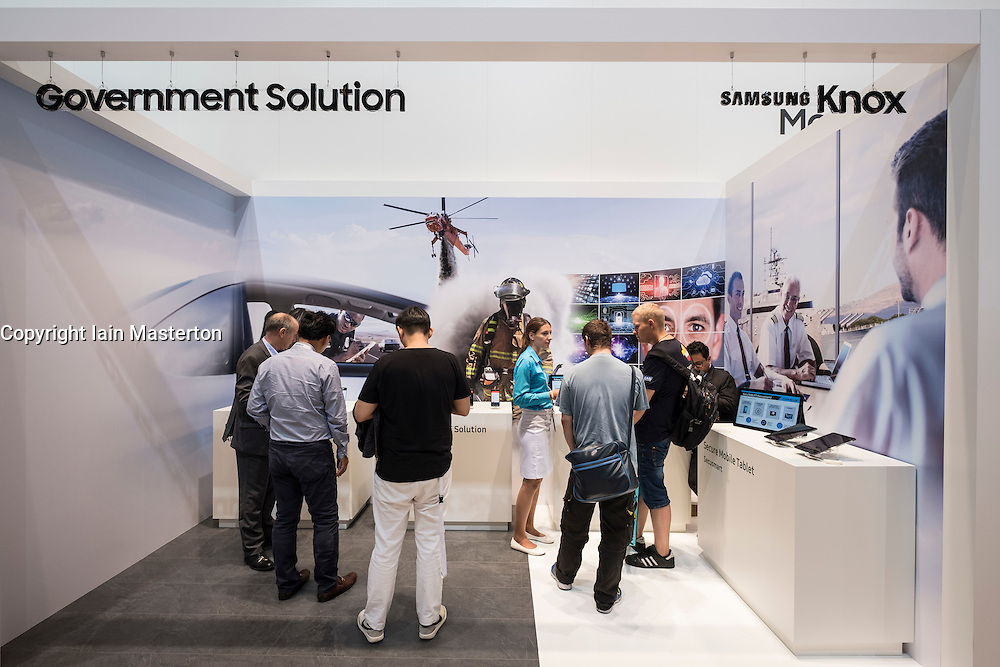 Samsung Knox security system showing government applications at 2016  IFA (Internationale Funkausstellung Berlin), Berlin, Germany