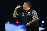 Gary Anderson during the PDC Unibet Premier League darts at Marshall Arena, Milton Keynes, United Kingdom on 24 May 2021.