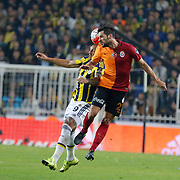 Fenerbahce's and Galatasaray's during their Turkish super league soccer derby Fenerbahce between Galatasaray at the Sukru Saracaoglu stadium in Istanbul Turkey on Sunday 25 October 2015. Photo by Kurtulus YILMAZ/TURKPIX