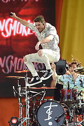 August 10, 2018 - New York, NY, USA - DREW TAGGART of The Chainsmokers performing on Good Morning America's Summer Concert Series in Central Park in New York City. (Credit Image: © Kristin Callahan/Ace Pictures via ZUMA Press)